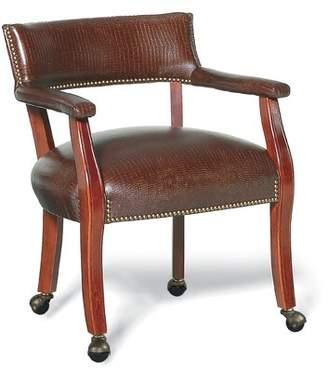 Thayer Fairfield Chair Armchair Fairfield Chair Body Fabric: 3156 Linen, Leg Color: Rustic Portobello, Nailhead Detail: Pewter