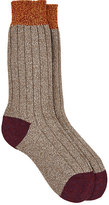 Barneys New York Men's Wool-Blend Mid-Calf Socks-TAN