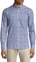 Toscano Men's Long Sleeve Printed Sportshirt