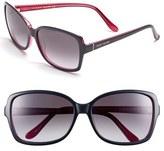 Kate Spade Women's 58Mm Two-Tone Sunglasses - Black Turquoise