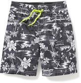 Old Navy Tropical-Print Swim Trunks for Toddler Boys