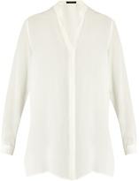 Etro Button-up silk-chiffon blouse
