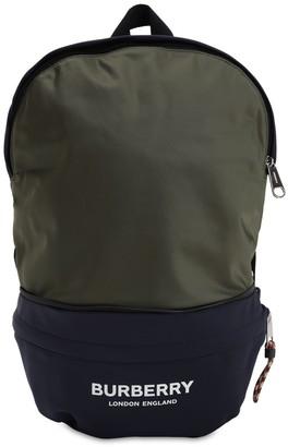 Burberry Logo Print Nylon Backpack