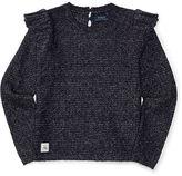 Ralph Lauren 7-16 Ruffled Cotton-Blend Sweater