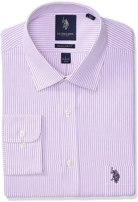 U.S. Polo Assn. Men's Reguar Fit Semi Spread Collar Dress Shirt