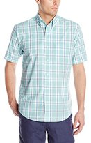 Arrow Men's Short Sleeve Mini-Plaid Hamilton Shirt