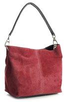 Big Handbag Shop Womens Mini Real Italian Suede Leather Single Strap Hobo Slouch Bag