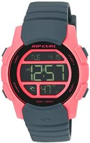Rip Curl Women's 'Mission Girls Digital' Quartz Plastic and Polyurethane Sport Watch, Color:Grey (Model: A2892G-PEA)