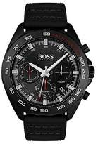 Hugo Boss Black-plated watch with black dial and luminescent details