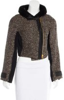 Proenza Schouler Fur-Trimmed Wool Jacket
