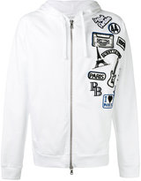 Pierre Balmain logo patch zipped hoodie - men - Cotton - 52