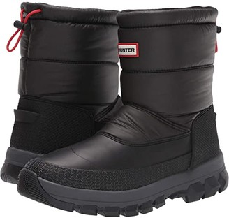 Hunter Insulated Snow Boot Short (Black) Men's Shoes