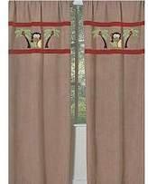 JoJo Designs Monkey Window Treatment Panels by Sweet Set of 2