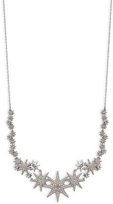 Swarovski Fizzy Rhodium-Plated Crystal Star Necklace