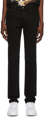 Givenchy Black Destroyed Slim-Fit Jeans