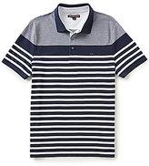 Michael Kors Engineered-Stripe Short-Sleeve Polo Shirt