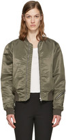 Rag & Bone Green Nylon Morton Bomber Jacket