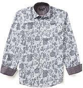 Bugatchi Long Sleeve Floral Grid Shirt