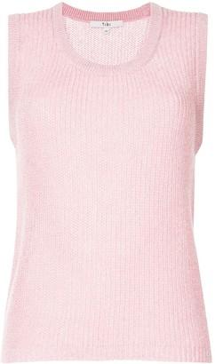 Tibi Sleeveless Crocheted Jumper
