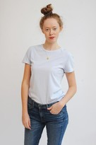 American Vintage Vegiflower Short Sleeve T Shirt In Sky Blue - L