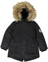 Diesel Black Faux Fur-Trim Button-Up Jacket - Toddler & Girls