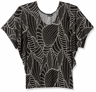Forever 21 Women's Plus Size Abstract Leaf Print Top
