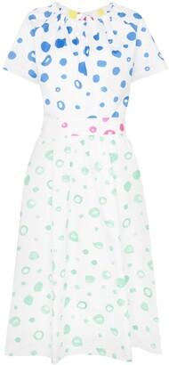 Mira Mikati dot print flared cotton dress