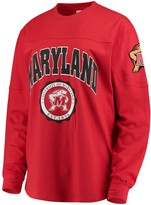 Unbranded Women's Red Maryland Terrapins Edith Long Sleeve T-Shirt