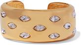 Kenneth Jay Lane Gold-tone crystal cuff