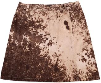 Roberto Cavalli Ecru Cotton Skirt for Women
