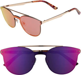 Web 55mm Cat Eye Metal Shield Sunglasses