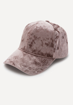 Bebe Crushed Velvet Cap