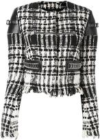 Alexander Wang cropped bouclé jacket - women - Cotton/Linen/Flax/Lamb Skin/Wool - 6