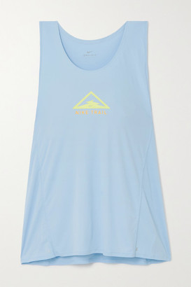 Nike City Sleek Printed Dri-fit Tank - Light blue