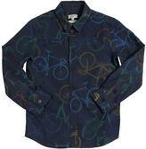 Paul Smith Bicycle Printed Cotton Poplin Shirt