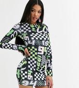 Asos Design DESIGN x Christian Cowan printed bodycon dress