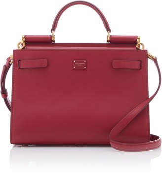 Dolce & Gabbana Sicily Leather Top Handle Bag