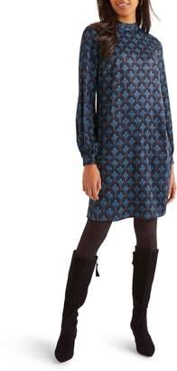 Boden Christobel Long Sleeve Print Shift Dress