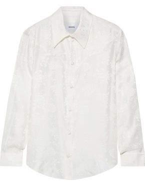 Nanushka Maddy Floral-jacquard Silk Shirt