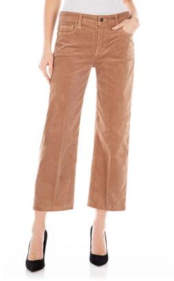 Fidelity Malibu High Waist Crop Wide Leg Corduroy Pants