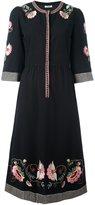 Vilshenko embroidered flower dress - women - Silk/Cashmere/Virgin Wool - 40