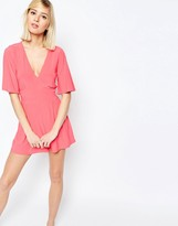 Asos Romper with Flutter Sleeves