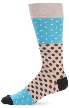 Saks Fifth Avenue Mixed Dot Crew Socks