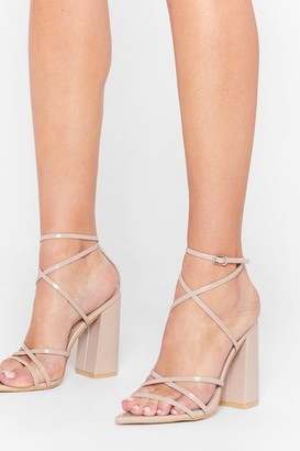 Nasty Gal Womens Prove Your Point Strappy Block Heels - Beige - 3