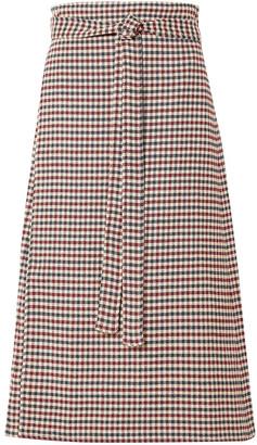 Sea Petra Checked Woven Wrap Skirt