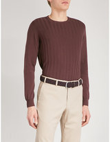 Corneliani Frosted Knitted Cotton Jumper