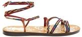 Valentino Santeria Native Couture leather sandals