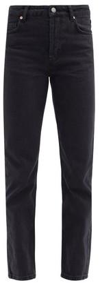 Raey Track High-rise Straight-leg Jeans - Black