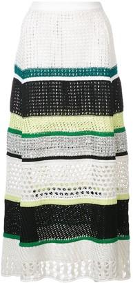 Proenza Schouler Striped Knit Skirt