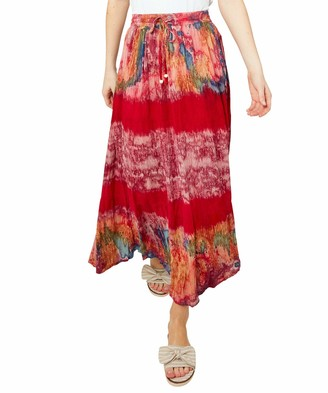 Joe Browns Women's Funky Boho Style Tie Dye Maxi Skirt